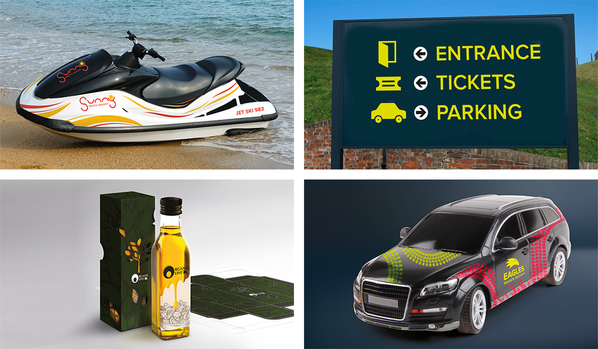 cut laminated graphics, signs, labels, packaging prototypes and reflective graphics with the GR cutter