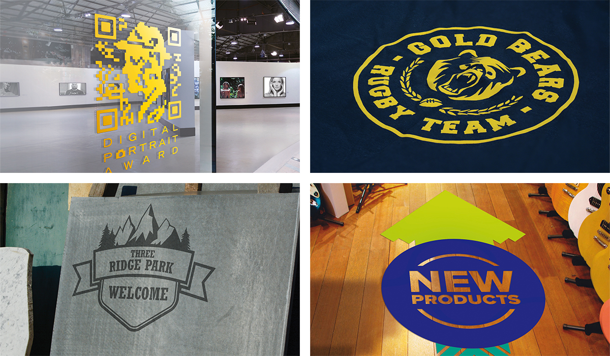 cut window and floor graphics, heat transfer apparel, sandblast and paint stencils with the GR cutting plotter